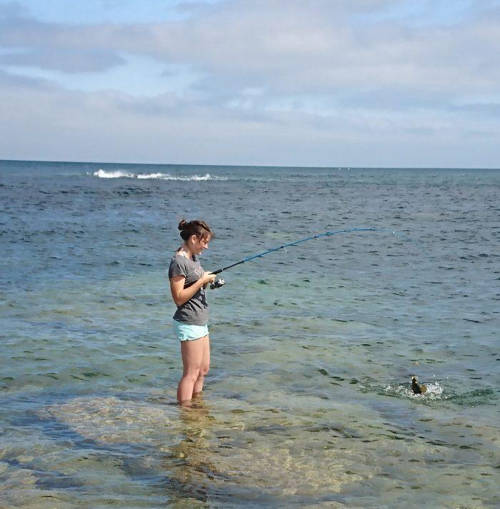 pêche au toc en mer